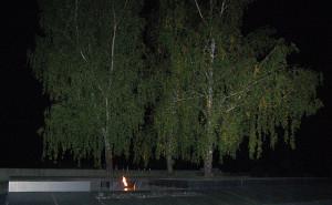 Kathyn in het donker: 3 levende berken, 1 eeuwige vlam.
