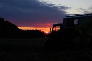 Al weer een mooie zonsondergang.